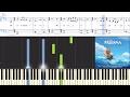 [Moana] An Innocent Warrior (Synthesia Piano Tutorial w/Lyrics)
