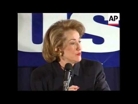 USA:  ELIZABETH DOLE ENDORSES GEORGE W BUSH