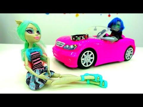 Куклы #МонстерХай Видео игрушки. 👫 Свидание Рашель и Гаррета! #Распаковка Монстр Хай 💎Браслетов