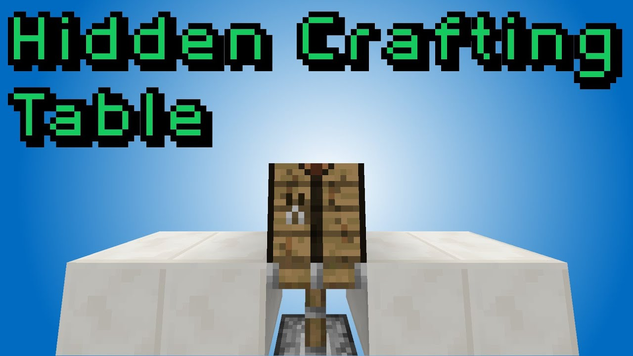 Minecraft Hidden Crafting Table Smallest Youtube