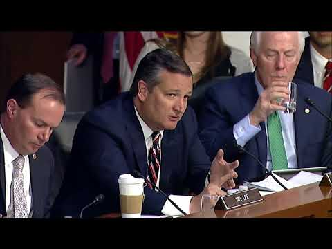 Sen. Cruz Questions Mark Zuckerberg on Alleged Political Bias at Facebook - April 10, 2018
