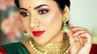 TRADITIONAL GANESH CHATURTHI LOOK 2019 | INDIAN FESTIVAL MAKEUP TUTORIAL