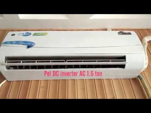 Pel Dc Inverter Ac 1 5 Ton Youtube