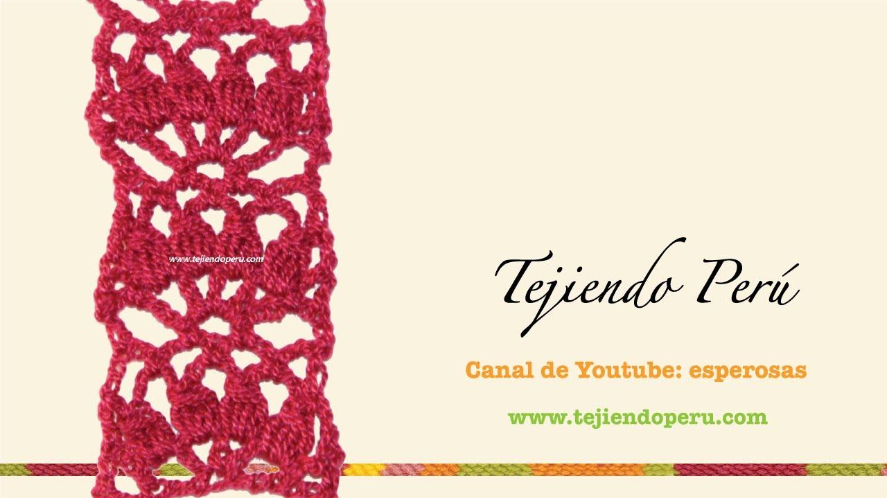 Cenefa para aplicar tejida en crochet 5 youtube - Cenefas para pared ...