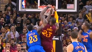 LeBron James HUGE And 1 Dunk In 4th Quarter!  12.25.16