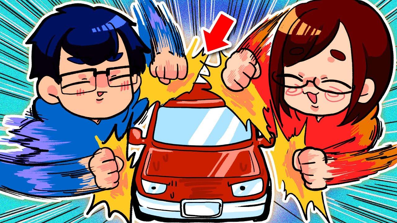 【大犯罪】夫婦で車をボッコボコに壊してしまいましたwwwwww【おすそわける メイドインワリオ】