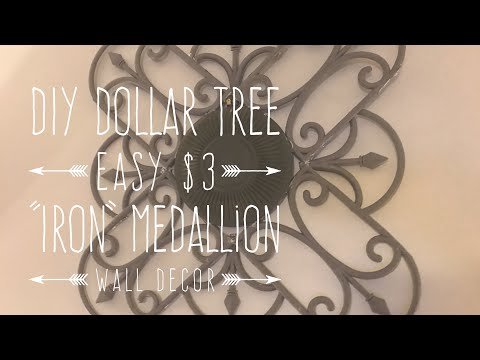 "DIY Dollar Tree $3 Easy ""Iron"" Medallion Wall Decor"