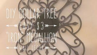 "Diy Dollar Tree $3 Easy ""iron"" Medallion Wall Decor"