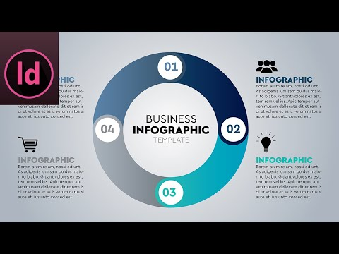 InDesign Tutorial | Four Options Infographic | Circle Infographic