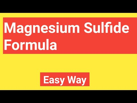 Magnesium Sulfide Formula||What Is The Formula For Magnesium Sulfide?