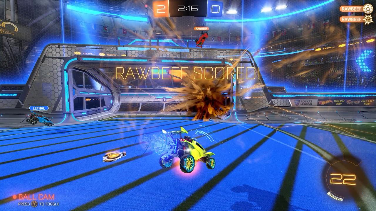 Rocket League   Demos   Demo Bump Goal Clear