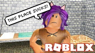 ESCAPING A NASTY DUNGEON ON ROBLOX!