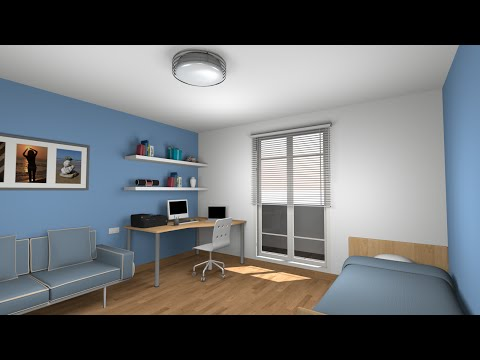 Sweet home 3D tutorial: Design and render a  bedroom - Part 2
