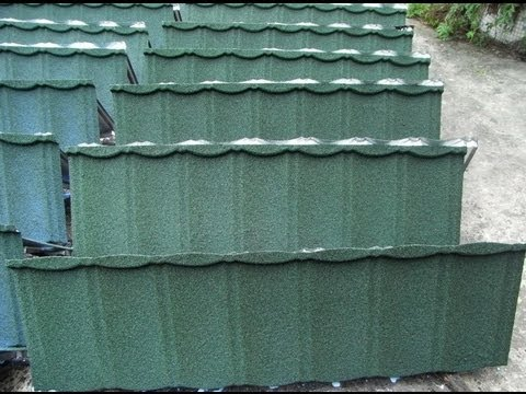 Stone Chipped Metal Roofing Tiles System For House