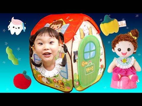 띵동~똘똘이집에 놀러간 라임이! 똘똘이집 배변놀이 냠냠놀이 양치놀이 동요 장난감 소꿉놀이 LimeTube & Toy 라임튜브