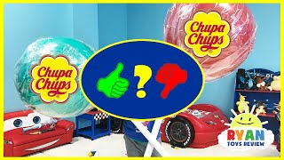 World's Largest Giant Chupa Chups Lollipops MagicTransform Candy! Kids Pretend - Video Review