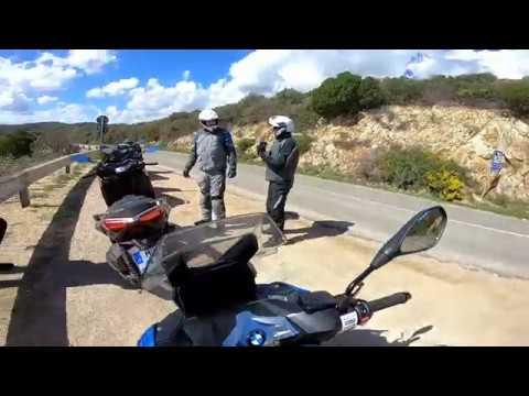 Testing new BMW C400X in Sardinia!