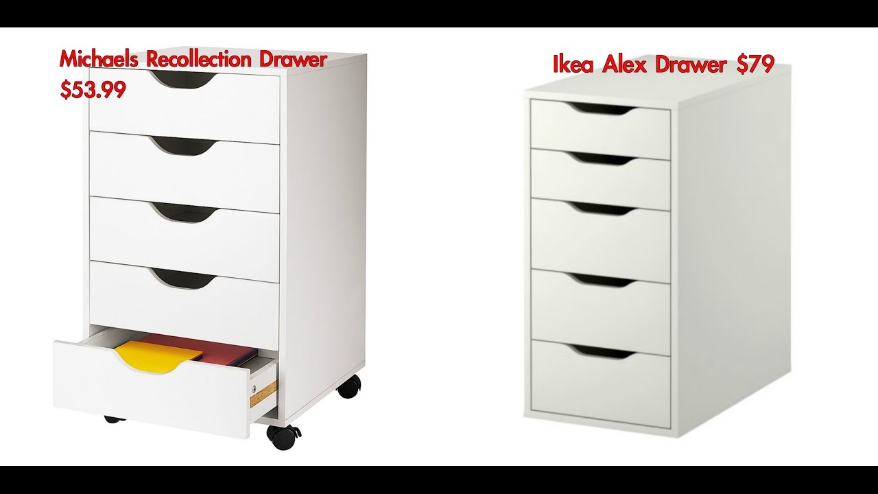 IKEA DRAWER DUPE!! Michaels Recollection Drawers!   YouTube