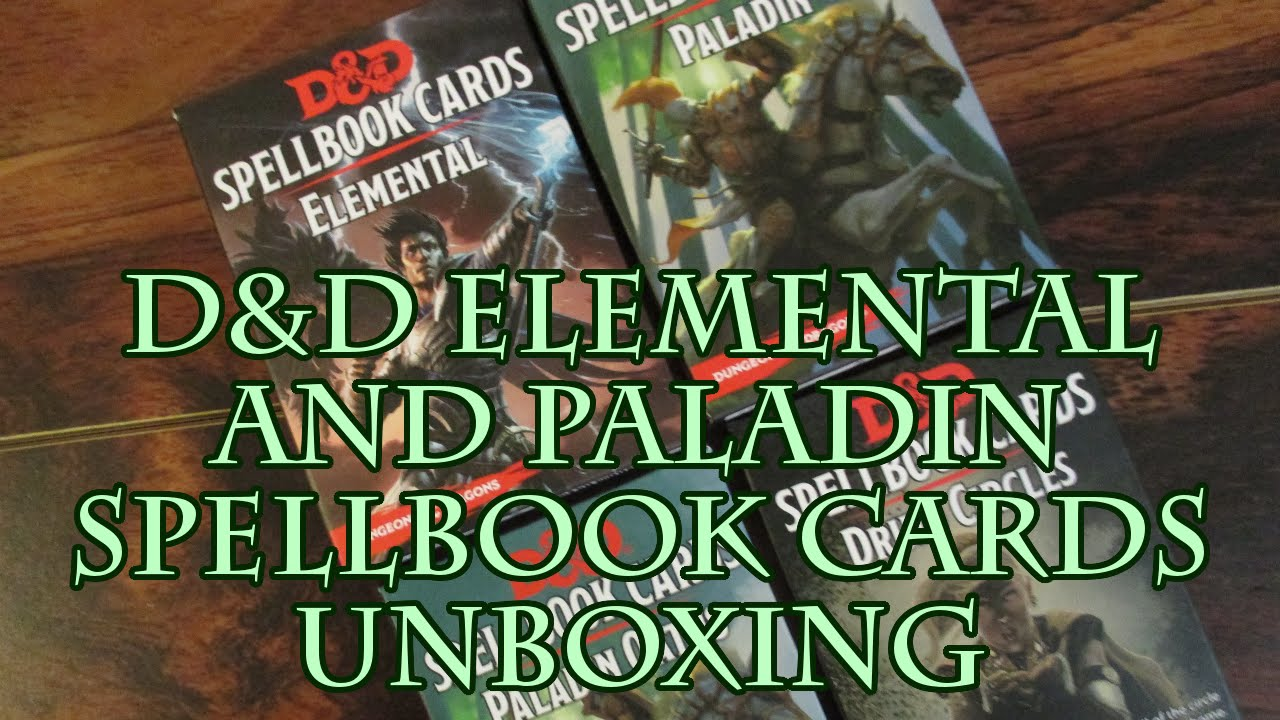 Dungeons /& Dragons Spellbook Cards Paladin