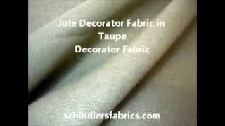 Jute Decorator Fabric In Taupe