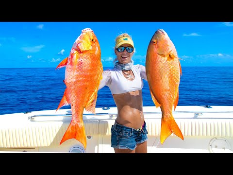 Florida Keys WRECK FISHING For Giant Deep Sea SNAPPER! Catch Clean Cook! (Florida Keys Fishing)