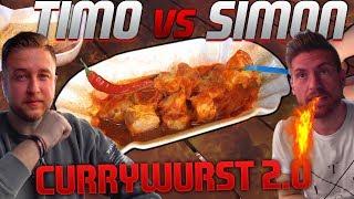 Die SCHÄRFSTE Currywurst der Welt (5 Millionen Scoville ) Timo vs Simon Currywurst 2.0