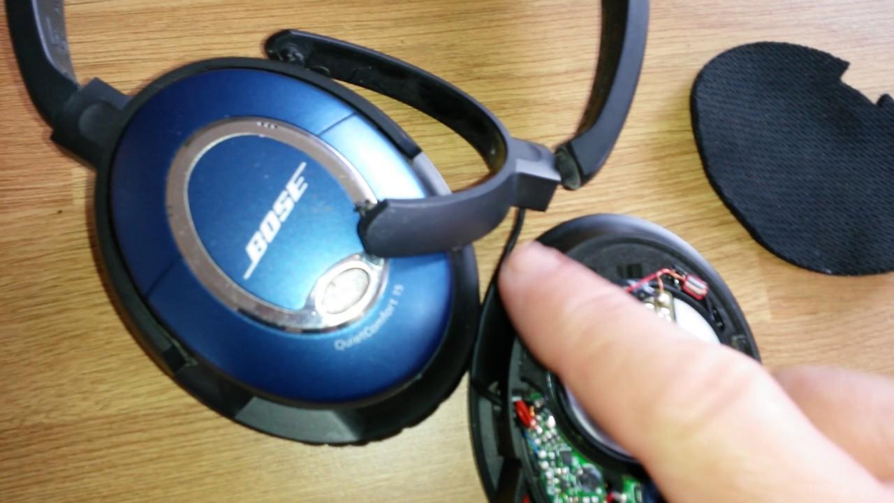 bose quiet comfort 15 headphone repair youtube rh youtube com Bose Headphones Repair Service Repair Bose around Ear Headphone