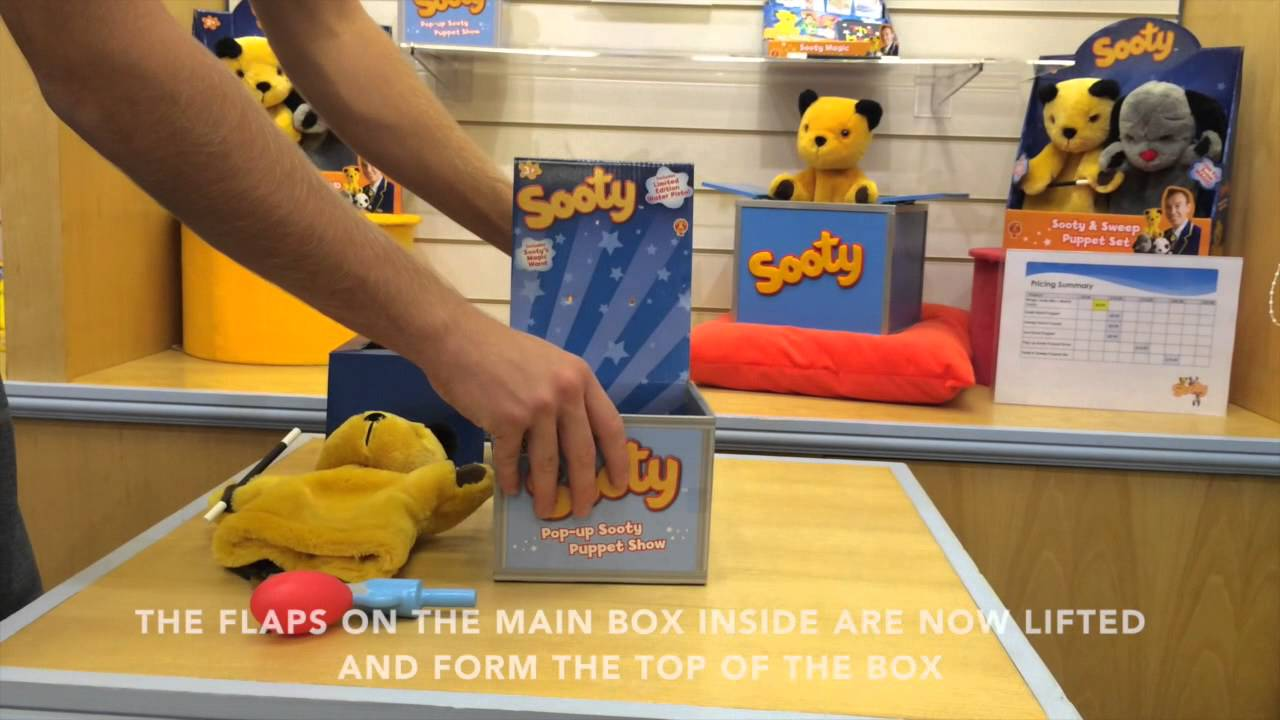 B-Creative The Sooty Show Official Sooty Plush Soft Cuddly Toy Hand Puppet