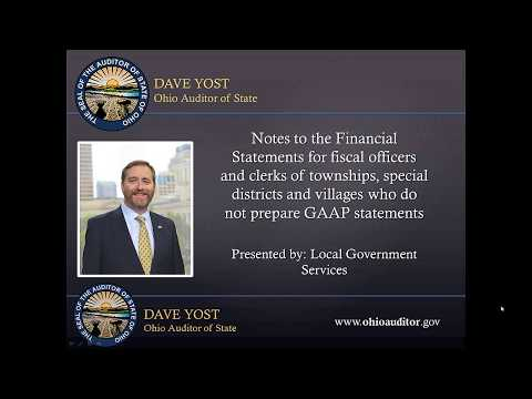 Notes to the Financial Statements for Fiscal Officers