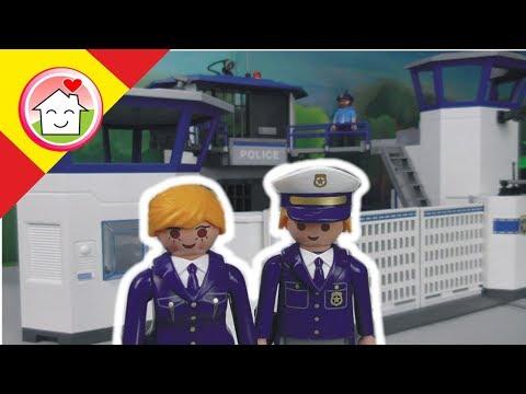 Playmobil en español Huida de la Prisión  La Familia Hauser / Policia