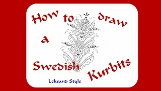 How to draw a Swedish Dala Kurbits