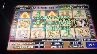 Cleopatra II Slot Cleo2 Bonus 9 Free Spins 2 Retriggers Hand Pay