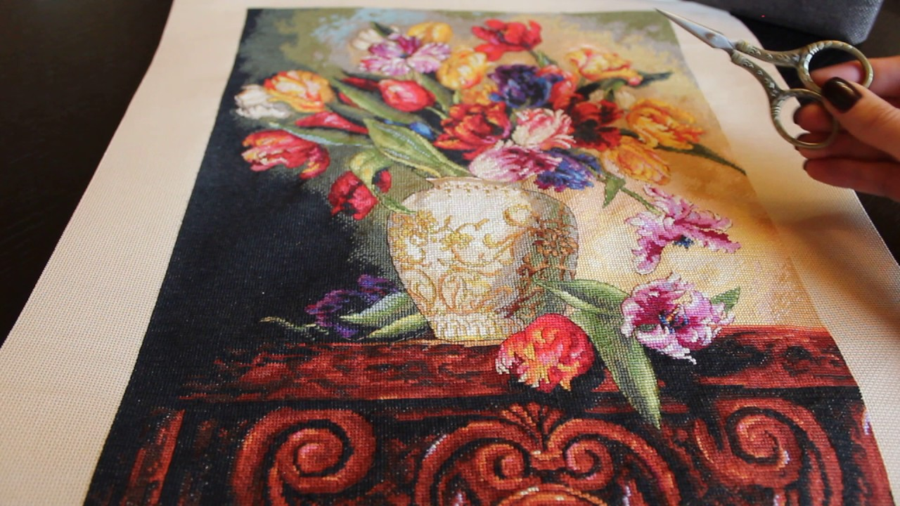 Вышивка dimension тюльпаны
