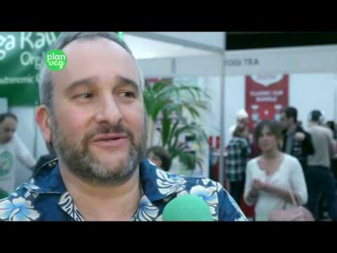 Vega cruda orgánica a la VeggieWorld de Barcelona 2017