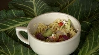 Orzo Pasta Salad With Feta : Middle Eastern & Mediterranean Salads