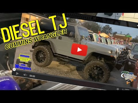 Here's A 1997 Jeep Wrangler TJ With CUMMINS DIESEL MOTOR!!! ( For Sale Review ) Rodgers Wranglers
