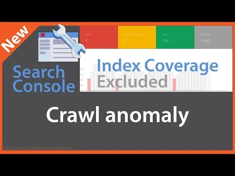 Crawl Anomaly - Search Console index coverage