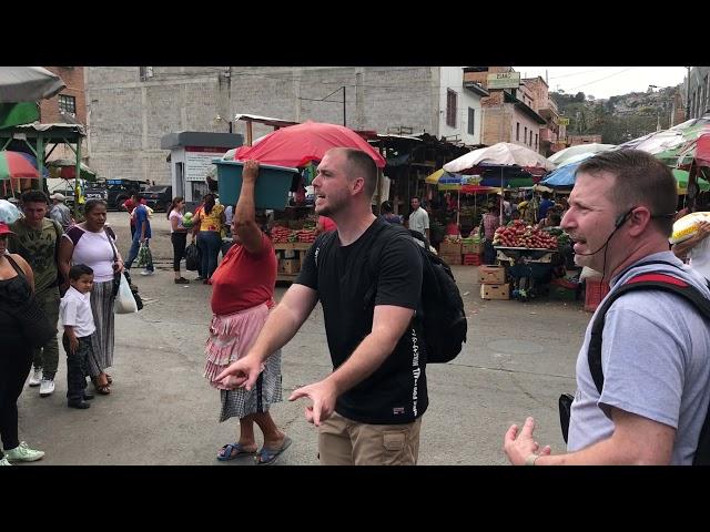 Market preaching in Tegucigalpa, Honduras