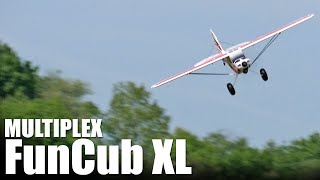 We take the Multiplex FunCub XL out for a test flight! More details...
