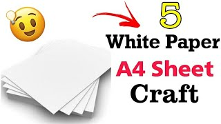 5 EASY AND CHEAP WHITE PAPER CRAFT IDEAS. DIY WHITE PAPER CRAFT. DIY CRAFTS
