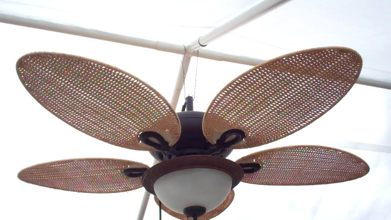 Rigging Up a Gazebo Ceiling Fan - YouTube