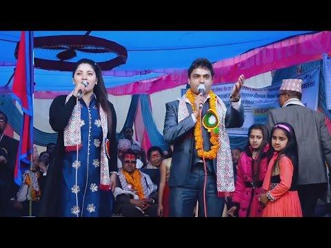 pashupati sharma with jyoti lohani live stage dhamaka....in syangja.