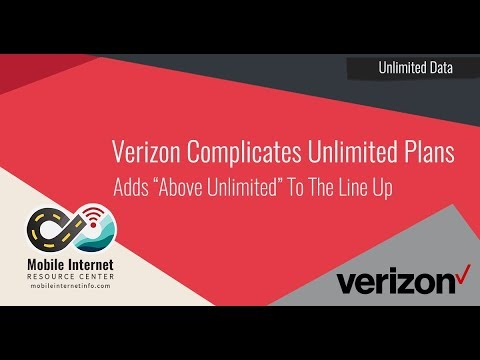 Verizon's New 'Above Unlimited' Plan - 20GB of Hotspot, 75GB Network Management Mp3