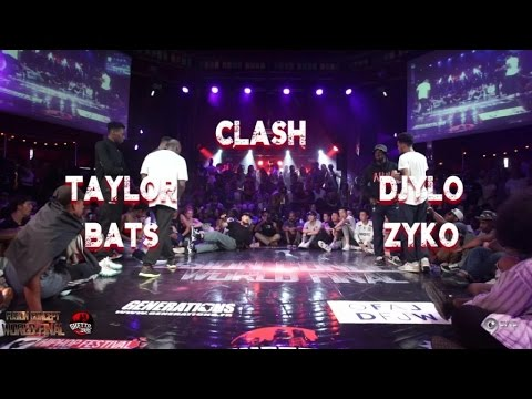 Taylor & Bats VS Zyko & Djylo | step 1 CLASH | Fusion concept 2016