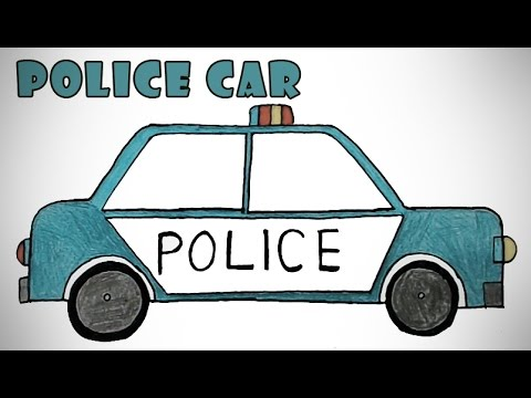 how to draw a police car kids drawing practice