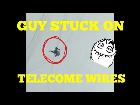 Chinese Guy Is Stuck On Telecom Wires To Escape His Hotel Bill