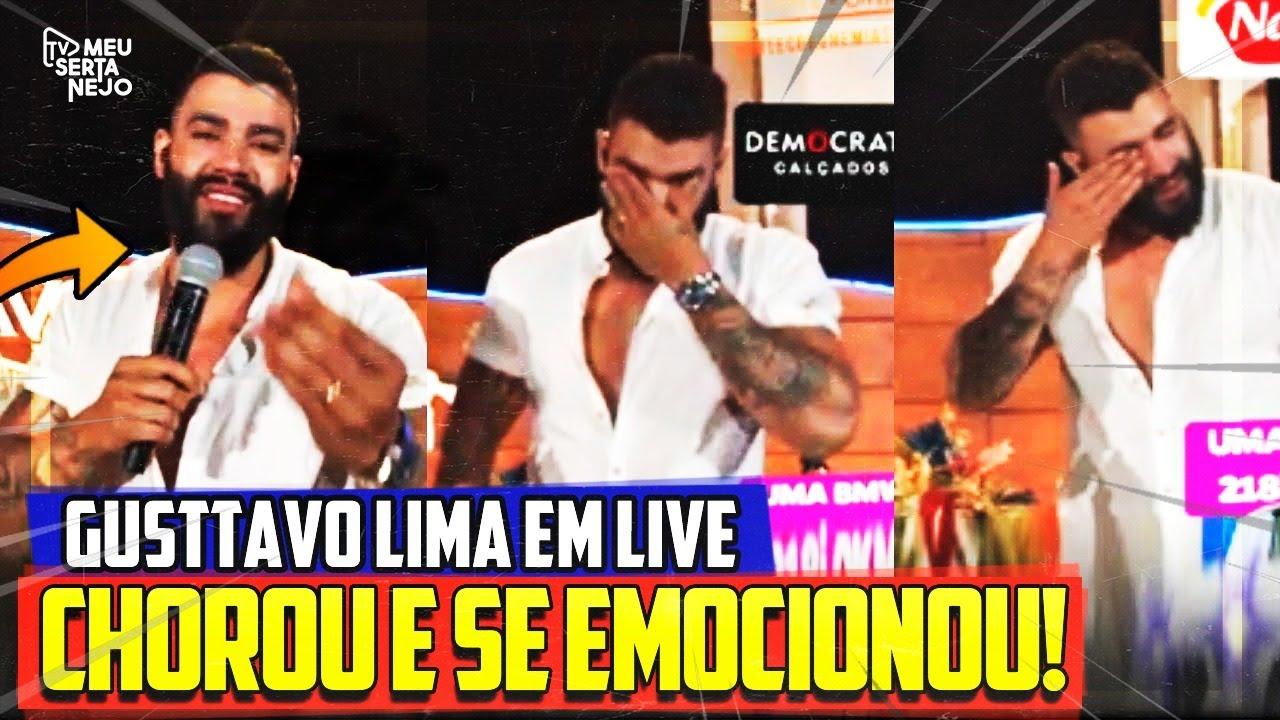 EM LIVE GUSTTAVO LIMA CHORA MUITO e se EMOCIONA ao lembrar de sua MÃE!