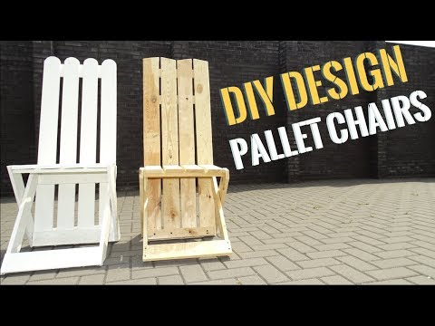2 easy DIY Pallet outdoor chairs