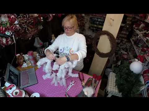 How to make a Christmas Swag by Krazy Mazie Kreations