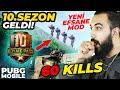 10. SEZON EFSANE GELDİ!! YENİ HARİTA YENİ MOD + ROYALE PASS ÇEKİLİŞİ!! (60 KİLLS) | PUBG Mobile